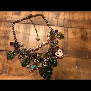 Retired Betsey Johnson Jungle Fever Necklace